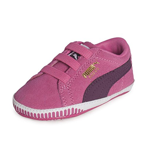 Puma SUEDE CRIB Chaussures Mode Sneakers Bebe Cuir Rose PUMA