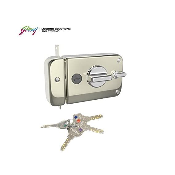 GODREJ ULTRA XL + TWINBOLT 1CK DEADBOLT SATIN NICKEL (FREE INSTALLATION)