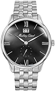 Mathey Tissot Edmond Men's Black Dial Stainless Steel Band Watch - H188