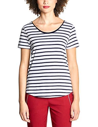 Street One Damen 313519 Gerda T-Shirt, deep Blue, (Herstellergröße:40)