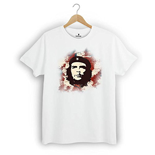 Herren T-Shirt Che Guevara Vintage Retro Style Weiß