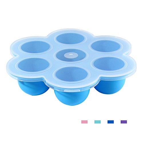 Aolvo Silikon Ei Bites Formen für sofortige Topf Zubehör Passt sofort Topf 5,6,8 QT Schnellkochtopf wiederverwendbar Container und Gefrierschrank Tablett mit Deckel