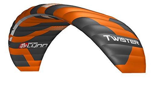 Lenkmatte Lenkdrachen Peter Lynn Twister 4.0 (R2F) mit Handles und Safety Leash 4-Line Powerkite Stranddrachen für Kitebuggy und ATB Board