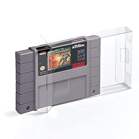 5 Klarsicht Schutzhüllen Super Nintendo [5 x 0,3MM SNES CART