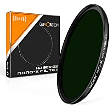 82mm ND Filtro Variable - K&F Concept® Filtro de Densidad Neutra Filtro para Lente HD 18 Capas Súper Delgado Multi-coated Vidrio Neutro Gris ND1000 ND Filtro DSLR Nano-X MRC Serie-82MM