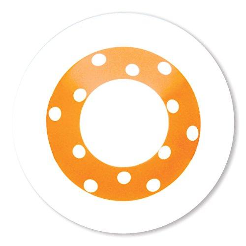 Bruno Evrard Assiette Creuse à Pois Orange en Porcelaine 24cm - Lot de 6 - Freshness Dots