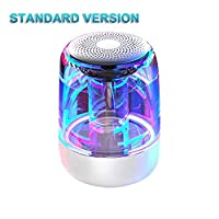 SmallPocket Wireless Bluetooth Speaker, Active Extra Bass, Wireless Stereo Paring, Multiple Colors Lights, Portable Waterproof LED Luminous HIFI Stereo Cool Audio tremendous