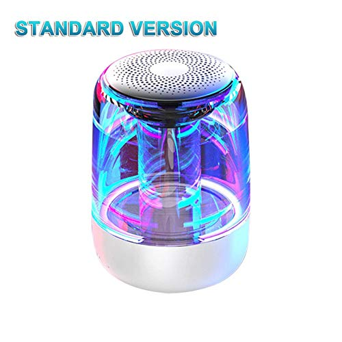 Nishci C7 Bluetooth Lautsprecher, Bluetooth 5.0 Transparent Nachtlicht Kabelloser Lautsprecher LED Leuchtender Subwoofer TWS 6D Surround HiFi Stereo Audio Tragbarer Outdoor Party Lautsprecher (Outdoor-lautsprecher-dosen)