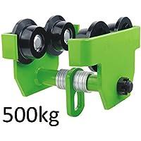 Laufkatze Krankatze Handfahrwerk Rollfahrwerk 500 kg 0,5 t Lastkapazität 75mm - 125mm Flanschbreite