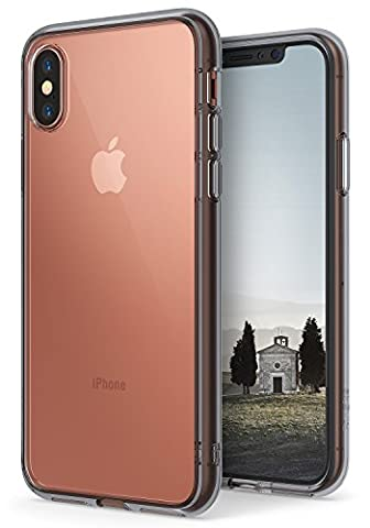 iPhone X Case, Ringke [FUSION] Crystal Clear Transparent PC Back TPU Bumper [Drop Protection/Shock Absorption Technology] Scratch Resistant Natural Shape Cover For Apple iPhoneX - Smoke Black