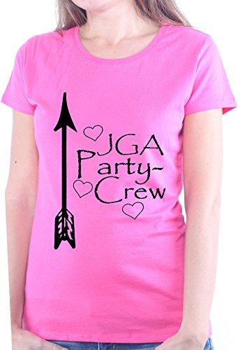 Mister Merchandise Ladies Damen Frauen T-Shirt Party Crew - JGA Junggesellinnenabschied Tee Mädchen bedruckt Pink