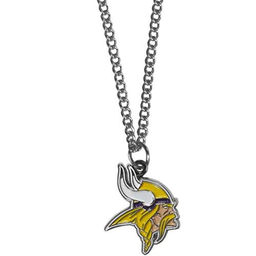 Siskiyou NFL Kette Halskette mit kleinen Anhänger, 50,8cm Silber, Damen, Silber (Fußball Minnesota Viking)