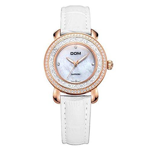 Sheli Uhren Frauen Armbanduhr mit Strasssteinen Saphirglas Elegante