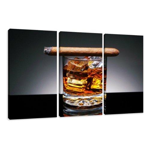 Bild auf Leinwand Lounge 160 x 90 cm 3 Teile Modell-Nr. XXL 1004 Bilder fertig gerahmt auf echtem...