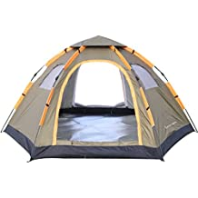 Tienda de Campaa Igl Camping 4 Estaciones 5 Personas Ligera Impermeable UV Resistente para Acampada Senderismo y Turismo al Aire Libre