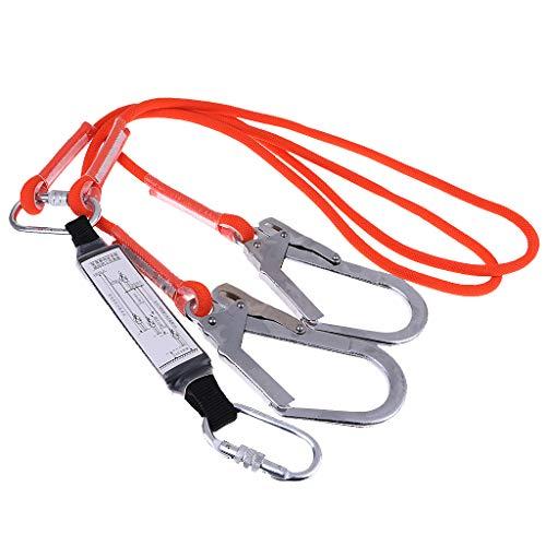 Baoblaze Cuerda Doble Pierna de Seguridad Escalada Protección contra Caídas Amortiguador - 1.6m