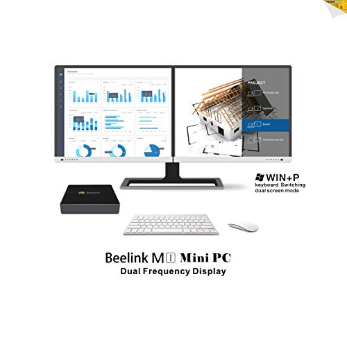 SeeKool M1 Mini PC Ordenador de sobremesa, Full 4K HD H.265 Soporte Windows 10 Mini ordenador, 4GB+64GB, Apollo Lake N3450 Procesador, Dual- Band WiFi, Gigabit Ethernet, USB 3.0, Salida HDMI/USB/SD/VGA (M1 4+64GB)