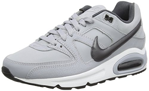 Nike Air Max Command Leather, Zapatillas de Running para Hombre, Negro (Negro (Obsidian/Metallic Silver-Bluecap-White)), 40 1/2 EU