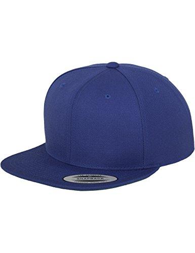 Flexfit Classic Snapback Cap, Mütze Unisex Kappe für Damen und Herren, One Size, Farbe royal