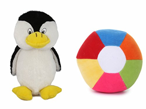 Deals India penguin soft toy - 26 cm and Medium Ball(20 cm) combo  available at amazon for Rs.249
