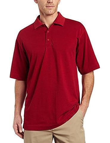 Cutter & Buck Men's DryTec Championship Polo Shirt, Cardinal Red, XXX-Large