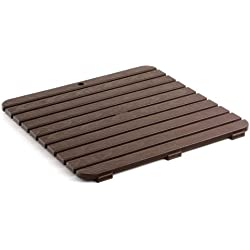 TATAY 5530000 - Tarima de ducha cuadrada, 55 x 3 x 55 cm, color marrón