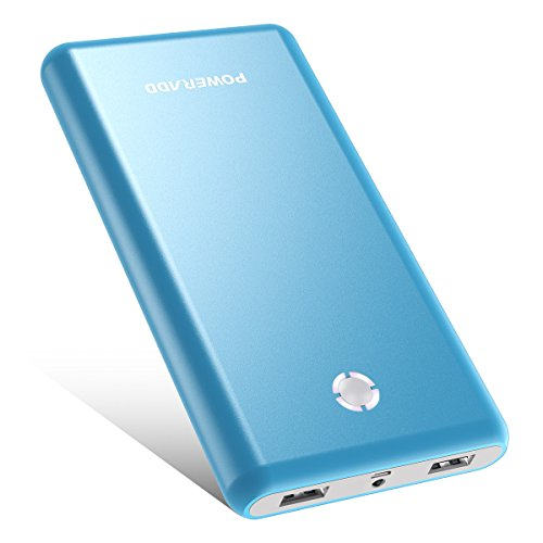 Poweradd Pilot X7 20,000mAh Portable Charger External Battery Power Bank Compatible for iPhone, iPad, iPod, Samsung, most other Phones and Tablets- Blue