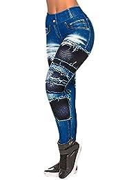 FELZ Pantalones Yoga Mujeres Leggings Estampados Vaqueros Mujer para Gym Fitness,Pantalones Elásticos Deportivos Ropa Deportivos