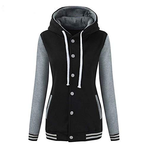 KIMODO Pullover Damen, Herbst Winter Lang Warmer Sport Sweatshirt Kapuzenpullover Kapuzenjacke Hoodie Bluse (Grau, M)