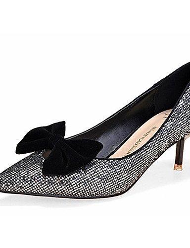 WSS 2016 Chaussures Femme-Décontracté-Noir / Argent / Or-Talon Aiguille-Talons-Talons-Laine synthétique golden-us8 / eu39 / uk6 / cn39