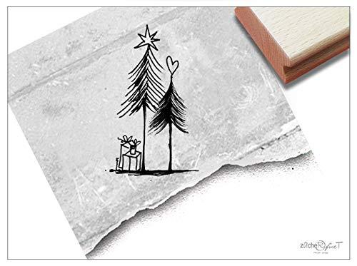 Stempel Weihnachtsstempel GESCHENKE UNTERM TANNENBAUM - Motivstempel Weihnachten Karten Geschenkanhänger Geschenk Weihnachtsdeko - zAcheR-fineT