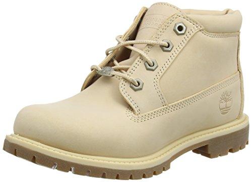 Timberland Damen Nellie Double Collar Chukka Boots, Rot (Apple Blossom Waterbuck K39), 38,5 EU (Timberland Boot-rot Damen)