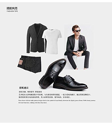 kakaka hommes Chaussures de chaussures Business pour léger en cuir de vache Noir - noir