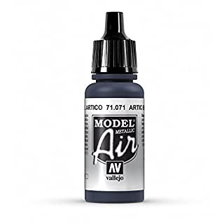 Vallejo Model Air Acrylfarbe, 17 ml Metallic Artic Blue