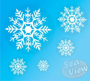 sea-view-stickers-96-snowflake-window-christmas-decorations-static-cling-reusable-sticker-snow