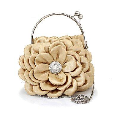 WZW Donna Poliestere / Chiffon Formale / Casual / Serata/evento / Matrimonio / Ufficio e lavoro / Shopping Borsa da sera . pink gold