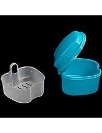 KaLaiXing marca dentales, Retenedores y otros aparatos dentales dentaduras postizas baño–Contenedor de almacenamiento para riego -- Color azul oscuro