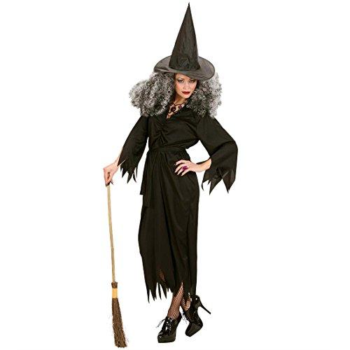 Hexenkostüm Damen Hexen Kostüm L 42/44 Hexe Damenkostüm Fasching Halloween Hexenkleid Halloweenkostüm Böse Zauberin Faschingskostüm Magierin Märchen Mottoparty Verkleidung Karneval Kostüme Frauen