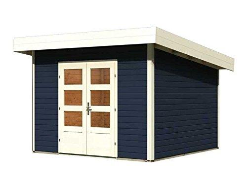 Karibu Gartenhaus Northeim 3 opalgrau 40 mm inkl. Fußboden Außenmaß (B x T): 309 x 309 cm Dachstand (B x T): 358 x 360 cm Wandstärke: 40 mm umbauter Raum: 19,2 cbm Ausführung: opalgrau Sparset: inkl. Karibu-Fußboden für Northeim 3
