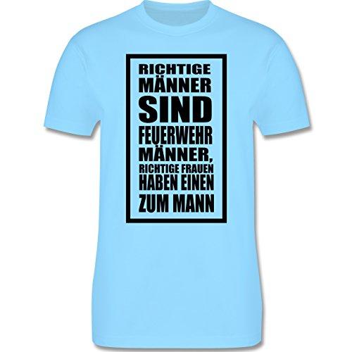 Feuerwehr - Feuerwehr - Richtige Männer - Herren Premium T-Shirt Hellblau