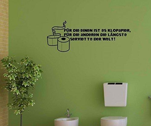 Wandtattoo WC Spruch Toilette 'Klopapier' Sticker Aufkleber Wandbild 1K193, Farbe:Pink glanz;Breite vom Motiv:40cm