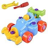 Lispeed Kinder Puzzle und Demontage Spielzeug nehmen-auseinander und montieren Zug und Werkzeuge Cartoon-Auto, Flugzeug für Kleinkinder Jungen und Mädchen 1 2 3 4 5 Jahre alt