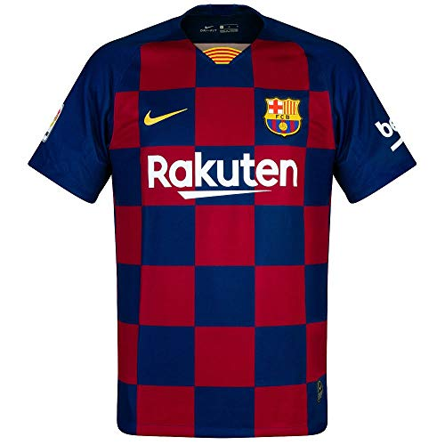 Brand new, official Barcelona Kids Home shirt for the 2019 2020 La Liga season. This authentic football kit is available in junior sizes small boys, medium boys, large boys, XL boys and is manufactured by Nike.Customise your FC Barcelona Football Kit...