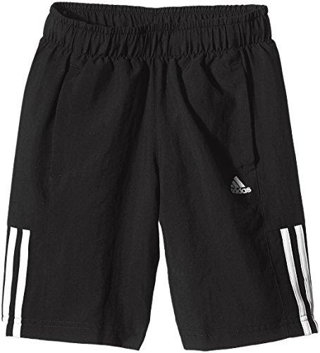 adidas Jungen Shorts Essentials Mid 3-Streifen, schwarz/weiß, 164, S23285
