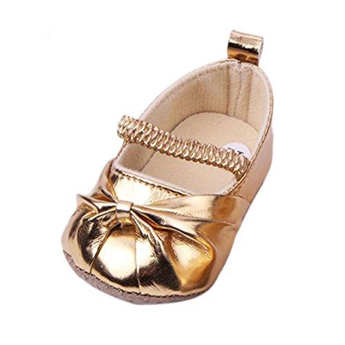 Etosell Chaussures Souple en Faux Cuir 4 Couleurs pour Bébé Fille Princesse EU 19 20 21 (EU 20(4-8 mois), Doré)