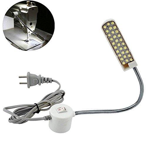 Lzndeal La luz CA 110V-220V 30 LED Enciende Interruptor