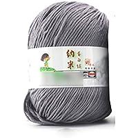 HuaYang Fil à tricoter laine cosy fil de laine pour tricoter à la main(1Pcs: Gris)