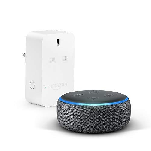 All-new Echo Dot (3rd Gen), Black + Amazon Smart Plug, Works with Alexa
