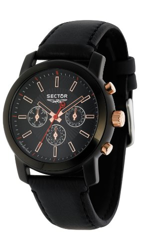 Sector Men's Watch R3271639125 In Collection Explorer With Black Dial & Black Colour Leather Strap