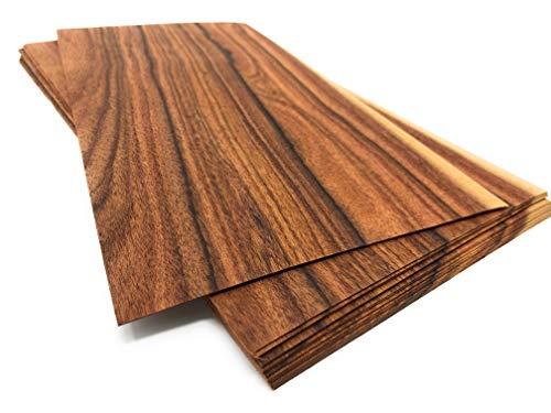 15-20 impiallacciature in legno di palissandro Santos, quantità totale per set 0,7 mq impiallacciatura pregiata. Adatto per: modellismo: lavori di riparazione foto regalo prezzo, fai da te, Intarsia.